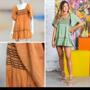New! Free People Easy To Love Mini Dress
